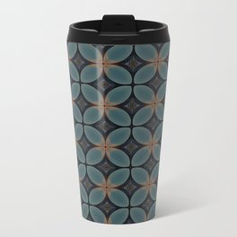 Metallic Deco Blue Metal Travel Mug
