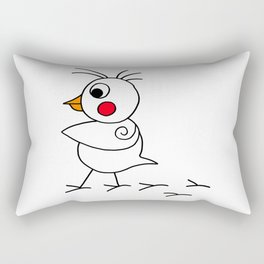 Drawn by hand a lovely funny baby chicken Rectangular Pillow