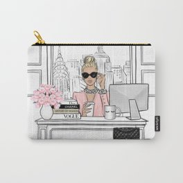 Boss girl in New York fashion illustration Carry-All Pouch