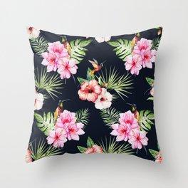 Tropical Bird Pattern 08 Throw Pillow
