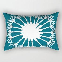 Oceanside Blue Botanical Rectangular Pillow