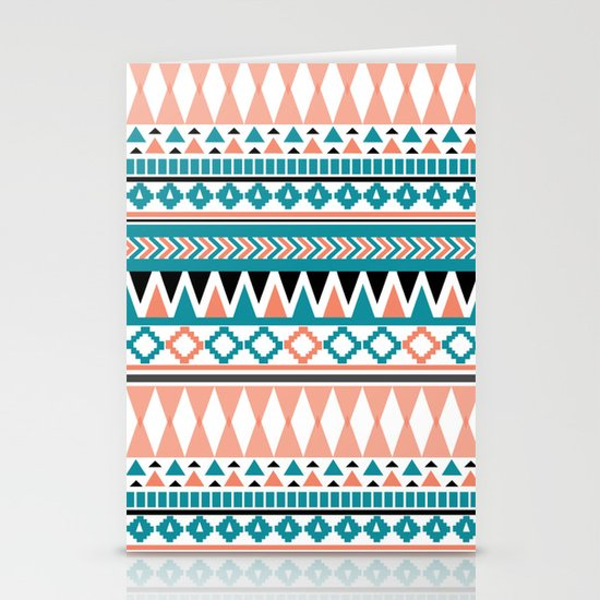 Tribal Triangle Stationery Cards