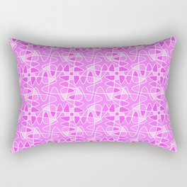 Pretty in Pink Shades Doodle Spirit Organic Rectangular Pillow