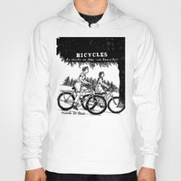 bicycles Hoodies featuring Bicycles by Addison Karl