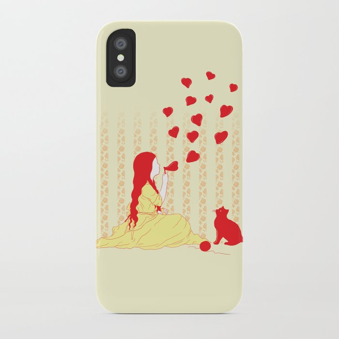 Bubbly Hearts iPhone Case