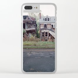 Abandoned Houses Clear iPhone Case