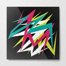 Neon Shatter Metal Print