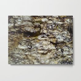Water On Light Stone Metal Print