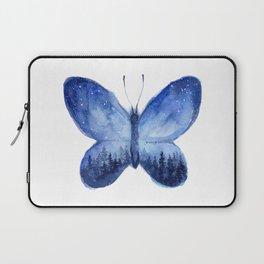 Blue Galaxy Butterfly Laptop Sleeve