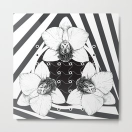 orchid symmetry Metal Print