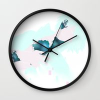 dmmd Wall Clocks featuring Clear my mind by Aspen Bear
