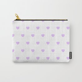 HEARTS ((lilac on white)) Carry-All Pouch