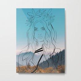 Goddess of the hunt Metal Print