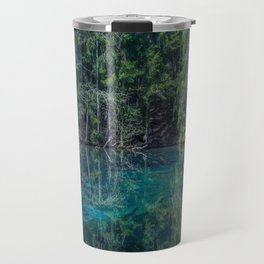 Magical Atmosphere By The Forest Source - Beautiful Reflection #decor #society6 #buyart Travel Mug