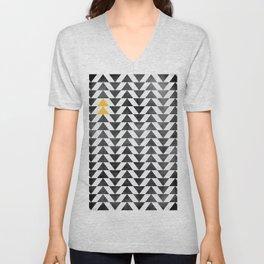 Triangle - Yellow II Unisex V-Neck