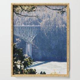 Deception Pass Bridge Among the Pines Serving Tray
