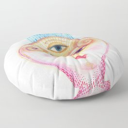 daemon of complicated times Floor Pillow