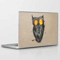 scary Laptop & iPad Skins featuring Scary owl by Bwiselizzy