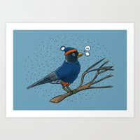 Annoyed IL Birds: The Robin Art Print