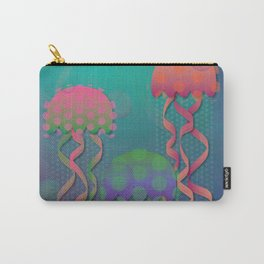 Polka Dot Jellyfish Carry-All Pouch