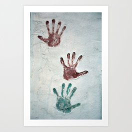 Three Hands Art Print