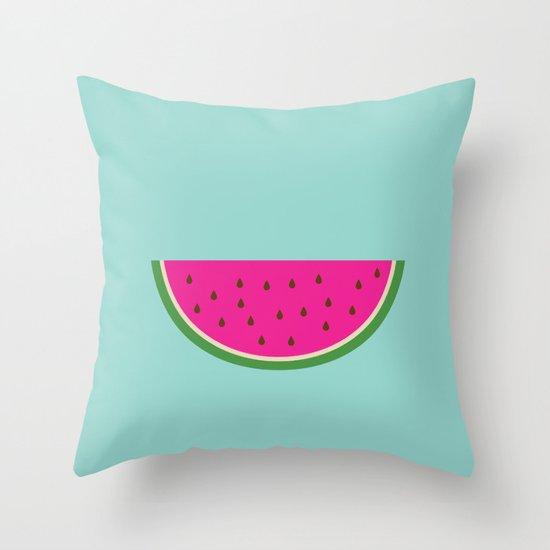 Watermelon print Throw Pillow