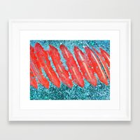 nail polish Framed Art Prints featuring Not Nail Polish by ghennah