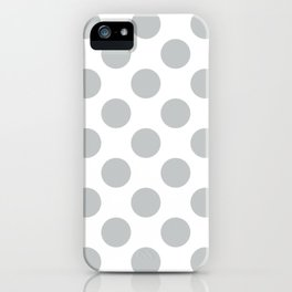 Light Grey Large Polka Dots Pattern iPhone Case