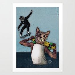 Stingray & Sneakers, Skate Cats Art Print