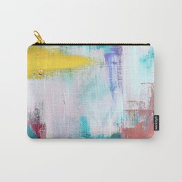 Colfax: an interesting, vibrant, abstract mixed media piece in a variety of colors Carry-All Pouch