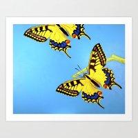 Raising Butterflies Art Print