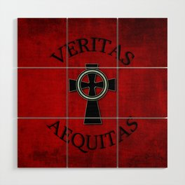 Veritas and Aequitas - Truth & Justice Wood Wall Art