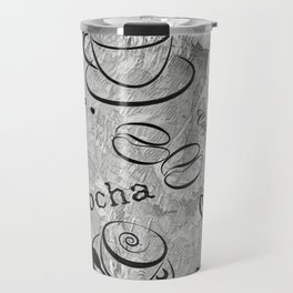 Grunge Coffee Background - Black & White 04 Travel Mug