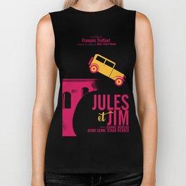 Jules et Jim, François Truffaut, minimal movie Poster, Jeanne Moreau, french film, nouvelle vague Biker Tank