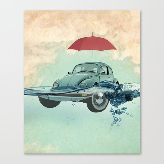 Chance of rain in deep water Canvas Print