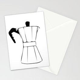 Coffee Tools: Moka Pot & Coffee Grinder Stationery Cards