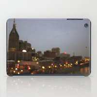 nashville iPad Cases featuring Nashville Lights by Long Mountain Prints
