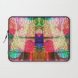 Flower Dreamscape - Painting, Illustration, pink, purple, yellow, blue Laptop Sleeve