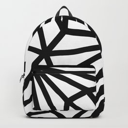 Modern Black and White geometric pattern #abstractart #decor Backpack