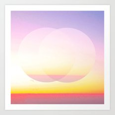 Double sunset Art Print