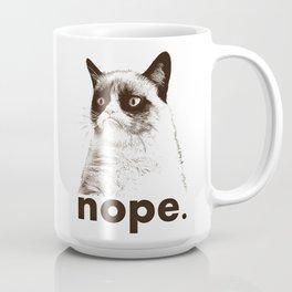 NOPE - Grumpy cat. Coffee Mug