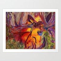 enchanted moose Art Print