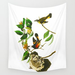 Vintage Scientific Bird & Botanical Illustration Wall Tapestry