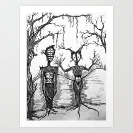 Two Forest Lovers Art Print