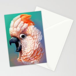 Moluccan Cockatoo realistic painting Stationery Cards