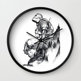 Iron Giant poster Wall Clock
