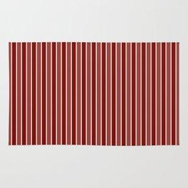 Vintage New England Shaker Village Milk Paint Barn Red Small Vertical Bedding Stripe Rug