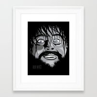wwe Framed Art Prints featuring WWE - Bray Wyatt by Chaotic Color