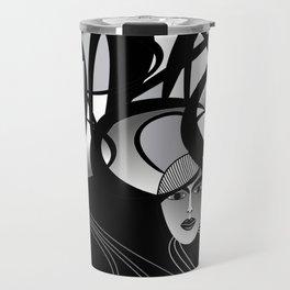 oriental women Travel Mug
