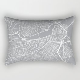 Boston Map, Massachusetts USA - Pewter Rectangular Pillow